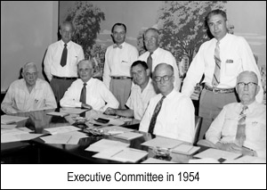 Executive Committe in 1954
